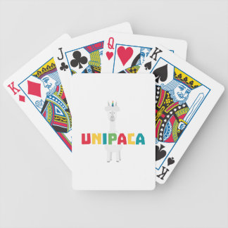 Alpaca Rainbow Unicorn Z0ghq Bicycle Playing Cards