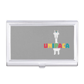 Alpaca Rainbow Unicorn Z0ghq Business Card Holder