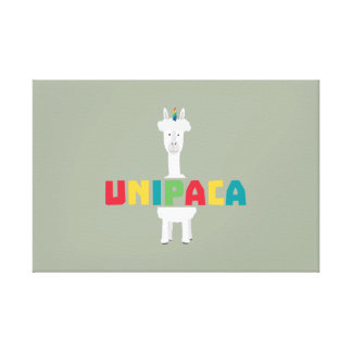 Alpaca Rainbow Unicorn Z0ghq Canvas Print
