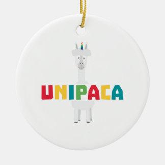Alpaca Rainbow Unicorn Z0ghq Ceramic Ornament