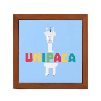 Alpaca Rainbow Unicorn Z0ghq Desk Organizer