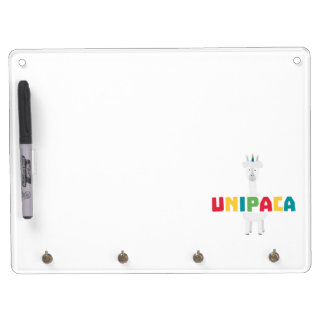 Alpaca Rainbow Unicorn Z0ghq Dry Erase Board With Keychain Holder