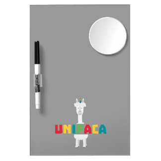 Alpaca Rainbow Unicorn Z0ghq Dry Erase Board With Mirror