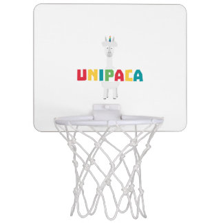 Alpaca Rainbow Unicorn Z0ghq Mini Basketball Hoop
