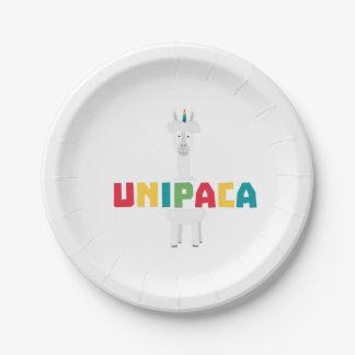 Alpaca Rainbow Unicorn Z0ghq Paper Plate