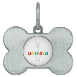 Alpaca Rainbow Unicorn Z0ghq Pet Tag