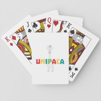 Alpaca Rainbow Unicorn Z0ghq Playing Cards