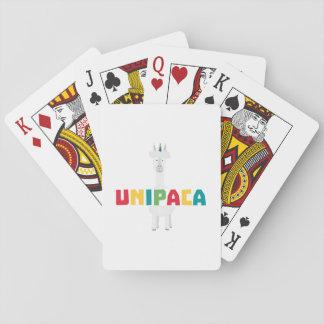 Alpaca Rainbow Unicorn Z0ghq Poker Deck