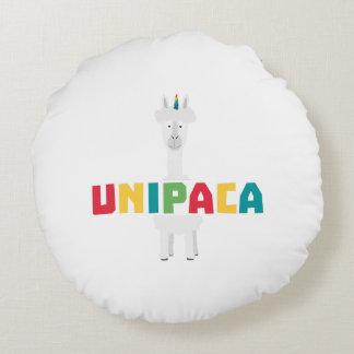 Alpaca Rainbow Unicorn Z0ghq Round Pillow