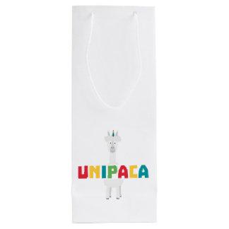 Alpaca Rainbow Unicorn Z0ghq Wine Gift Bag