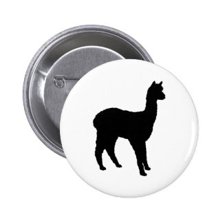 Alpaca Silhouette Pins