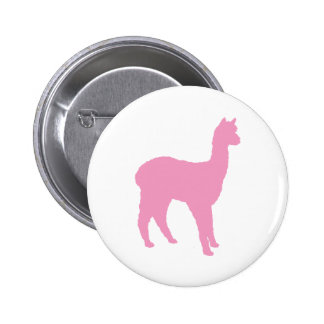 Alpaca Silhouette (in pink) Buttons