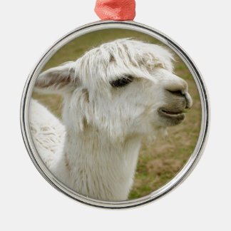 Alpaca Silver-Colored Round Ornament