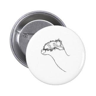 Alpaca Sketch Pinback Buttons