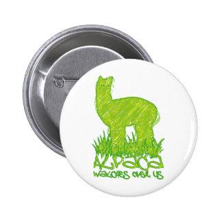 Alpaca watches over us pins