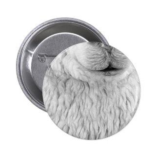 Alpaca White Pinback Buttons