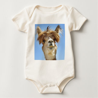 Alpaca with Crazy Hair Baby Bodysuit