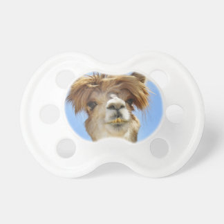 Alpaca with Crazy Hair Baby Pacifier