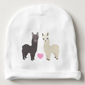 Alpacas and Heart Baby Beanie