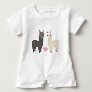 Alpacas and Heart Baby Romper