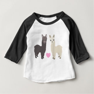 Alpacas and Heart Baby T-Shirt