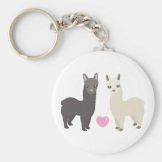 Alpacas and Heart Keychain