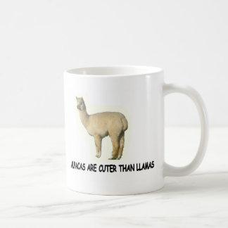 Alpacas are cuter than llamas coffee mug