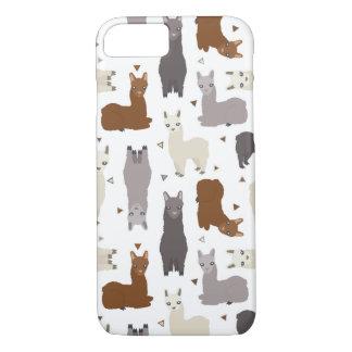 Alpacas Geo Pattern iPhone 8/7 Case