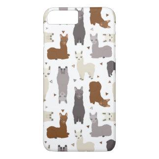 Alpacas Geo Pattern iPhone 8 Plus/7 Plus Case