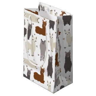 Alpacas Geo Pattern Small Gift Bag