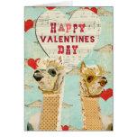 Alpacas Heart Valentine Card