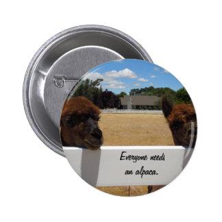 Alpacas in Templeton, California Buttons