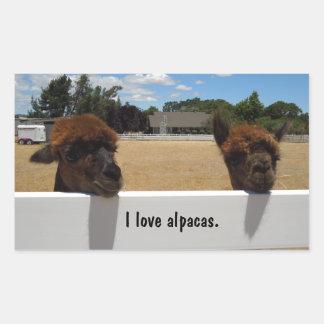 Alpacas in Templeton, California Sticker