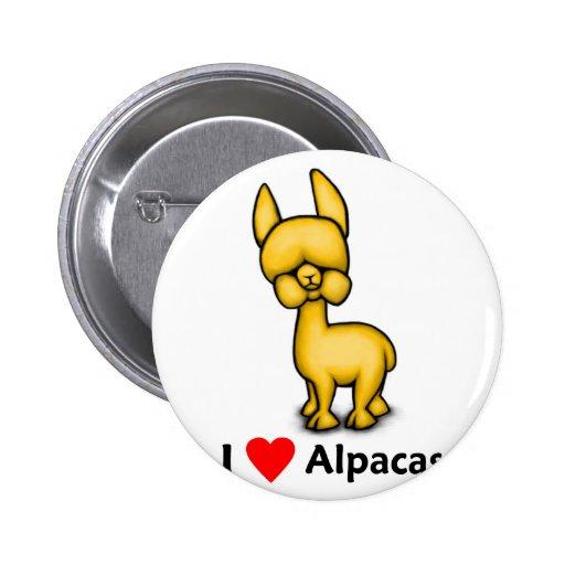 alpacasilove pinback button