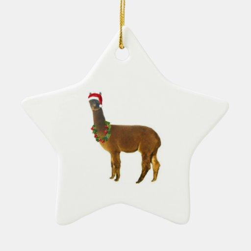 Alpaga de vacances de Noël Décoration Pour Sapin De Noël