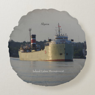 Alpena double sided round pillow