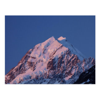 Alpenglow on Aoraki Mount Cook, Mackenzie 2 Postcard