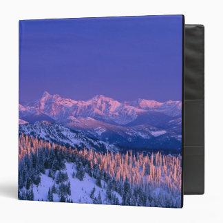 Alpenglow strikes the peaks of Glacier Binder