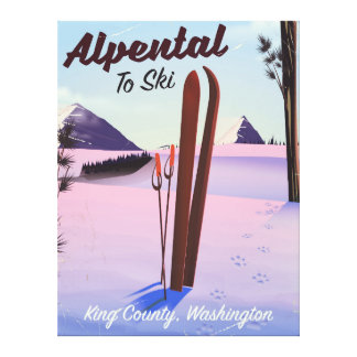 Alpental  King County, Washington ski poser Canvas Print