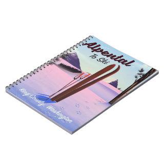 Alpental  King County, Washington ski poser Spiral Notebook