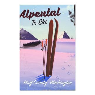 Alpental  King County, Washington ski poser Stationery