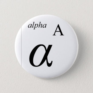 Alpha 2 Inch Round Button
