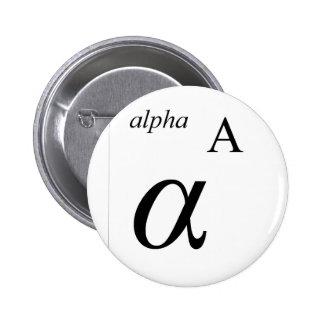 Alpha 2 Inch Round Button