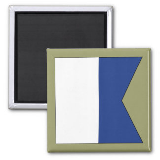 Alpha (A) Signal Flag Fridge Magnets