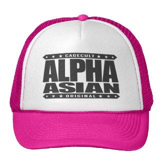 ALPHA ASIAN - On Top of Genetic Food Chain, Black Trucker Hat