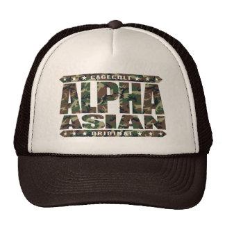 ALPHA ASIAN - On Top of Genetic Food Chain, Camo Trucker Hat