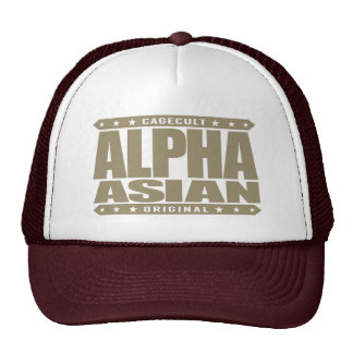 ALPHA ASIAN - On Top of Genetic Food Chain, Gold Trucker Hat