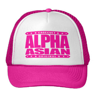 ALPHA ASIAN - On Top of Genetic Food Chain, Pink Trucker Hat
