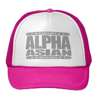 ALPHA ASIAN - On Top of Genetic Food Chain, Silver Trucker Hat