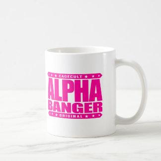ALPHA BANGER - I'm An Undefeated Kickboxer, Pink Basic White Mug